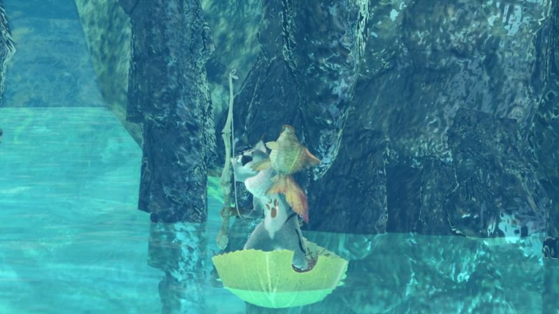 小金魚を釣り上げたパターンの画像です。